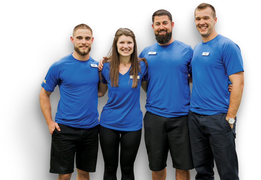 A group of Plymouth Fitness trainers smiling